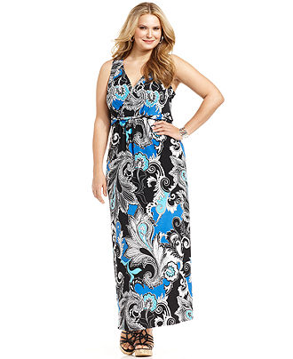 Plus Size Sleeveless Maxi Dresses 2012