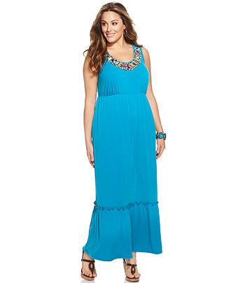 Plus Size Sleeveless Maxi Dresses 2012-2