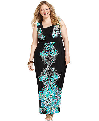 Plus Size Sleeveless Maxi Dresses 2012-3