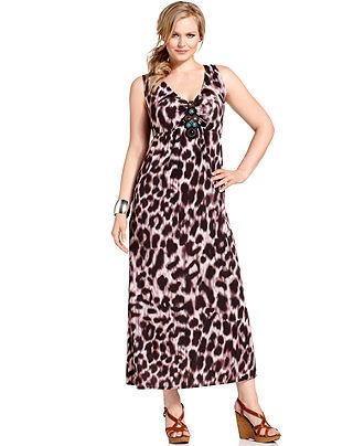Plus Size Sleeveless Maxi Dresses 2012-4
