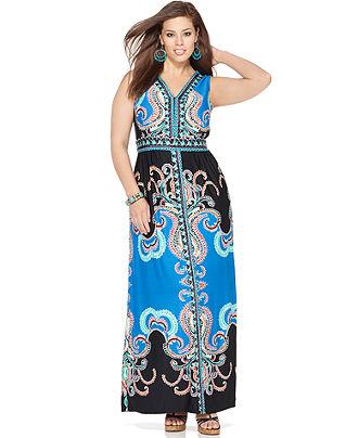 Plus Size Sleeveless Maxi Dresses 2012-5