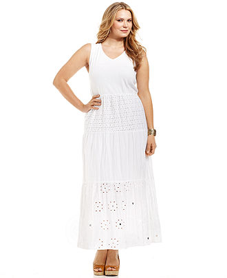 Plus Size Sleeveless Maxi Dresses 2012-6