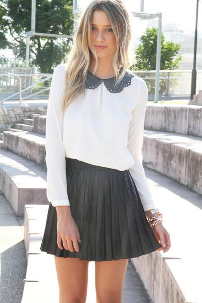 SABO SKIRT - Women's Mini Skirts accordian skirt