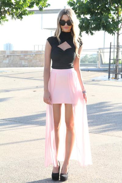 SABO SKIRT - Women's Mini Skirts blush tail skirt