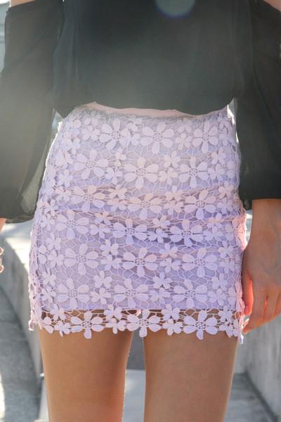 SABO SKIRT - Women's Mini Skirts lila skirt