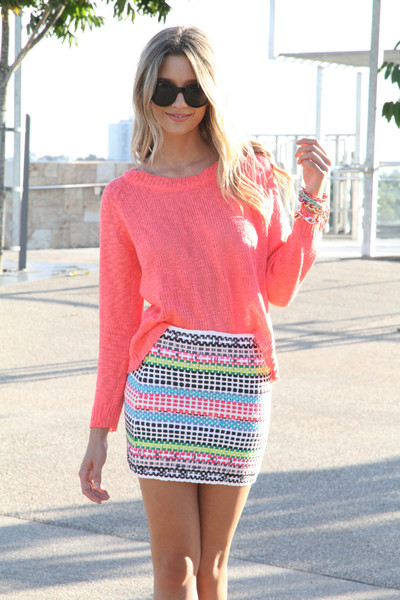 SABO SKIRT - Women's Mini Skirts neon woven skirt