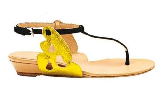 Leather Flat Sandals, Aperlai