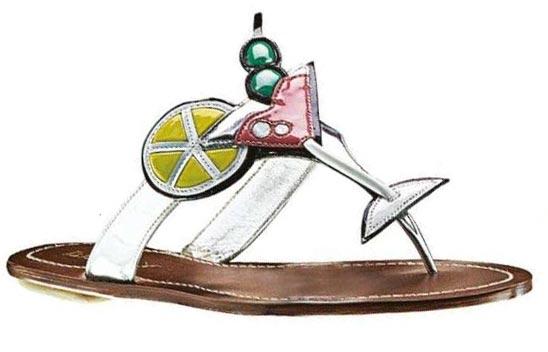 Patent Leather Sandals, Prada