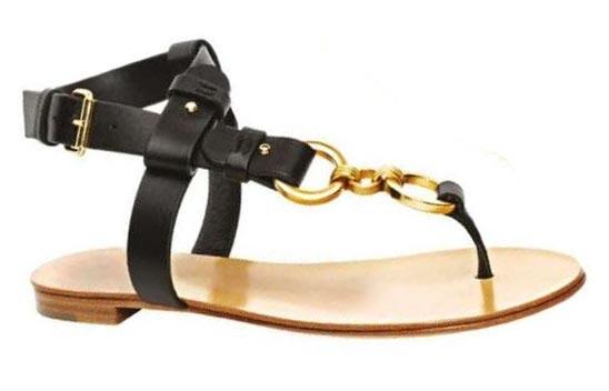 Raw-Edge Calfskin Sandals, Giuseppe Zanotti Design