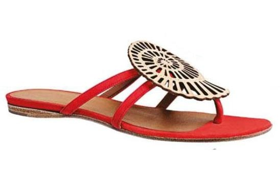 Suede Goatskin Sandals, Hermes