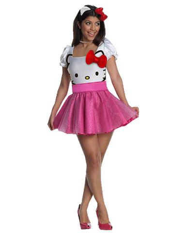 Womens Halloween Costume Ideas Hello Kitty Adult Costume