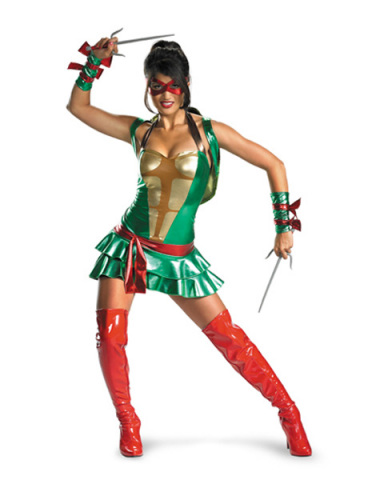 Womens Halloween Costume Ideas Ninja Turtles Raphael Deluxe Adult Womens Costume