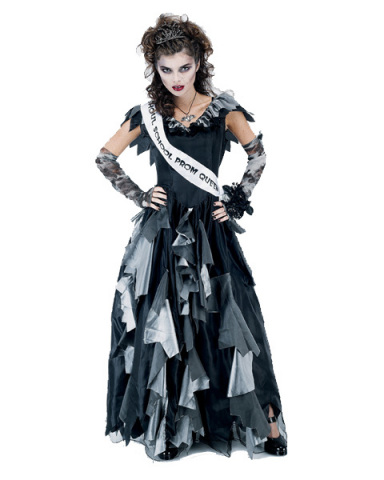 Womens Halloween Costume Ideas Womens Zombie Prom Queen Costume