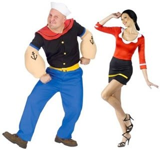 Couple Halloween costume ideas Popeye and Olive Oil