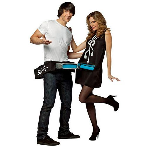 couple Halloween costume ideas USB Port & Stick Adult Couples Costume