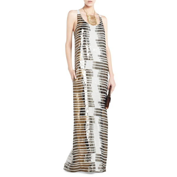 BCBG Women's Amaral Sequined Maxi Dresses