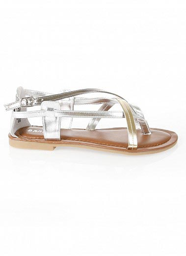 Bare Feet Shoes Strappy Flat Thong Sandals By Bamboo