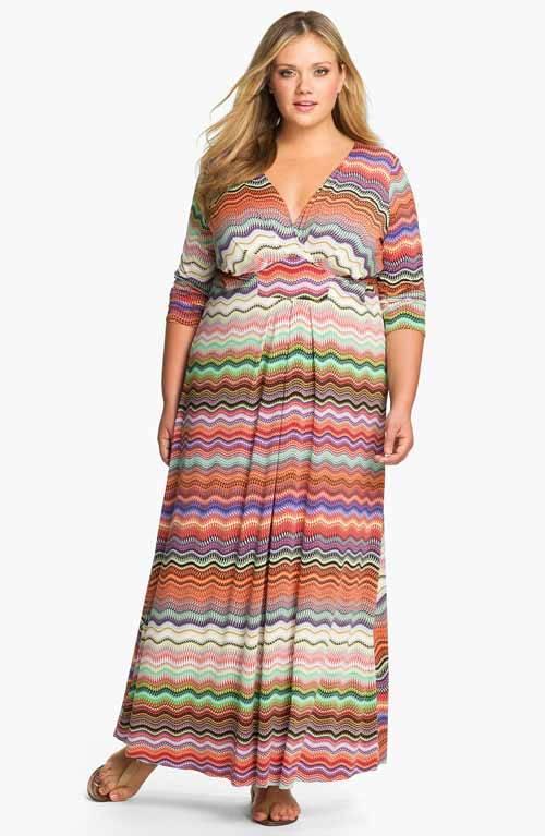 Cute Plus Size Summer Maxi Dresses-01
