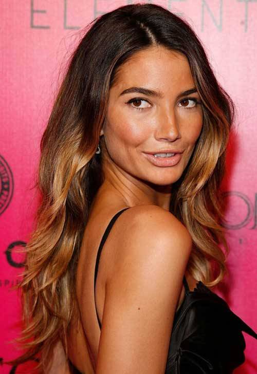 Lily Aldridge Ombre Hair Color 2013