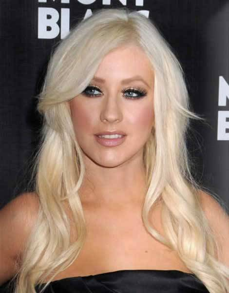 A Guide For Celebrity Hairstyle Trends 2013 Christina Aguilera