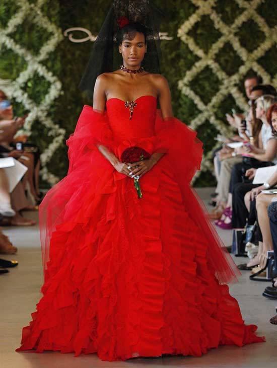 Oscar De La Renta Bridal Dresses 2013-13