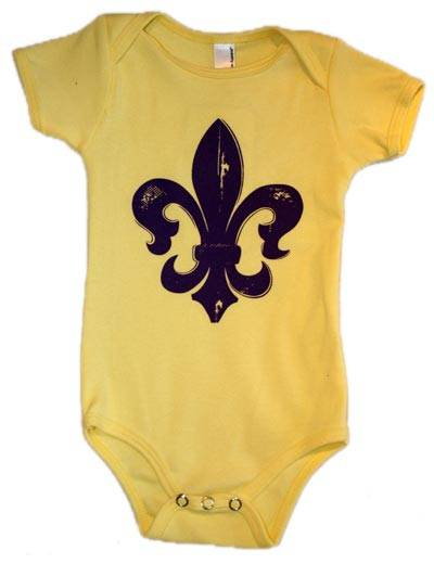 The Coolest Baby Clothes Spring Summer 2013 Fleur de Lis one piece 1