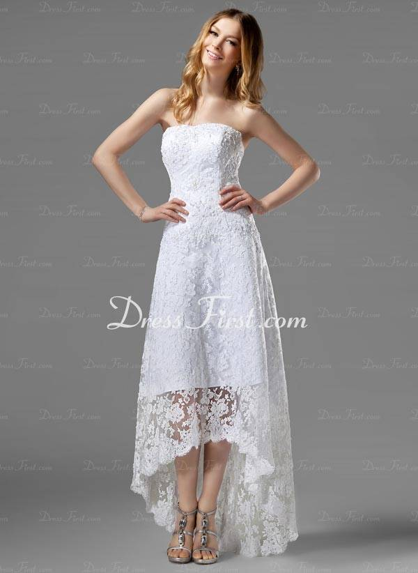 High Low Wedding Dresses Cheap