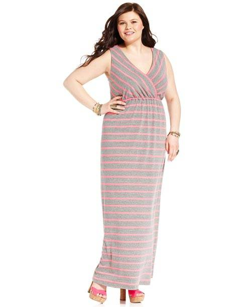 Plus Size Sleeveless Maxi Dresses 2013_01