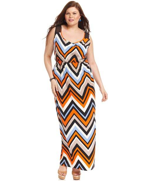 Plus Size Sleeveless Maxi Dresses 2013_03