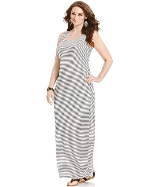 Plus Size Sleeveless Maxi Dresses 2013_05