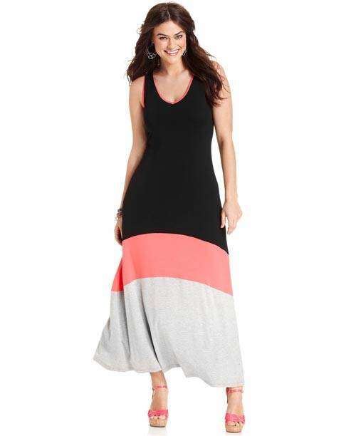 Plus Size Sleeveless Maxi Dresses 2013_06