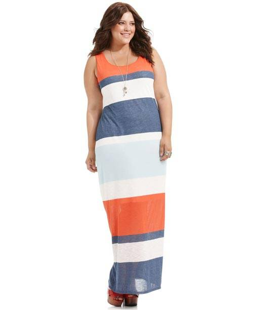 Plus Size Sleeveless Maxi Dresses 2013_07