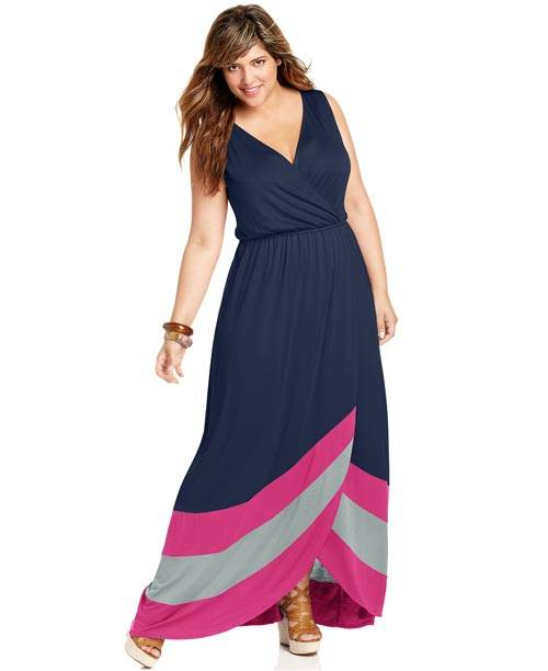 Plus Size Sleeveless Maxi Dresses 2013_08