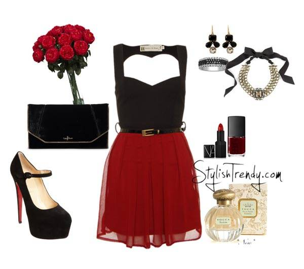 Valentine's Day 2014 Hair, Makeup and Outfit Ideas_04