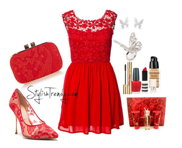 Valentine's Day 2014 Hair, Makeup and Outfit Ideas_11