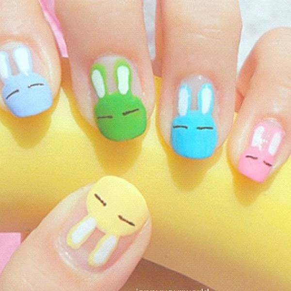 Easter 2014 Nail Art Designs Cute Hairstyles Ideas