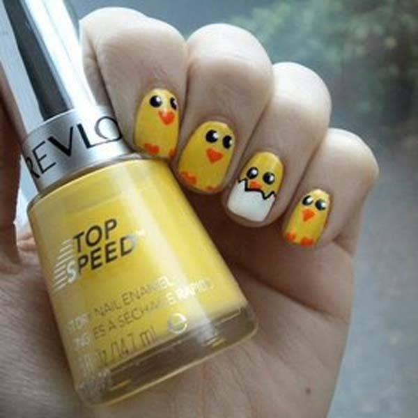 Easter 2014 Nail Art Designs Cute Hairstyles Ideas_03