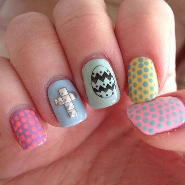Easter 2014 Nail Art Designs Cute Hairstyles Ideas_08