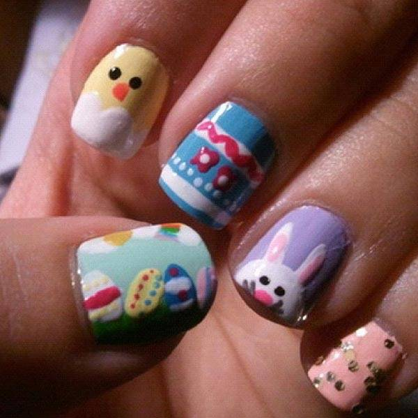 Easter 2014 Nail Art Designs Cute Hairstyles Ideas_11