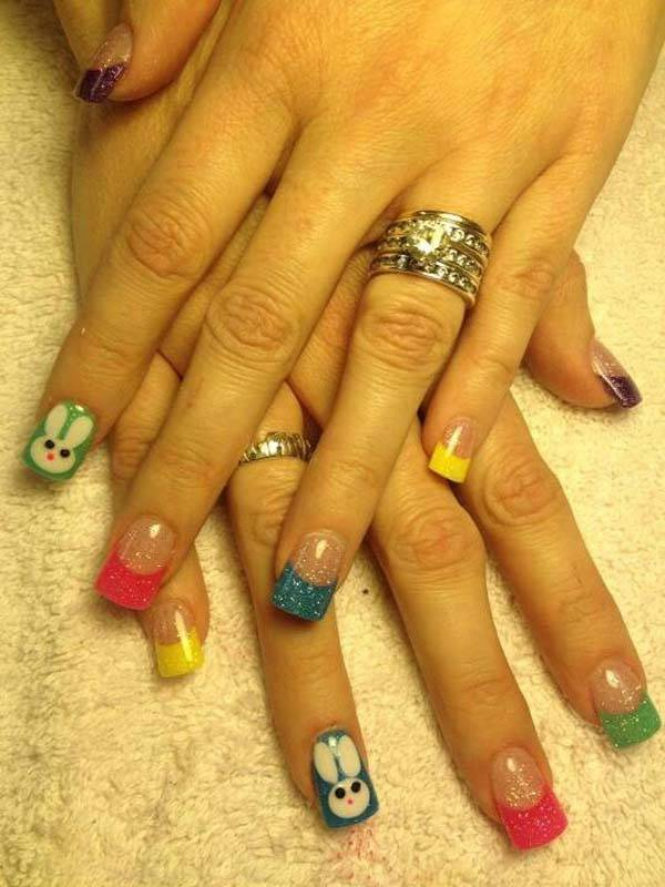 Easter 2014 Nail Art Designs Cute Hairstyles Ideas_15