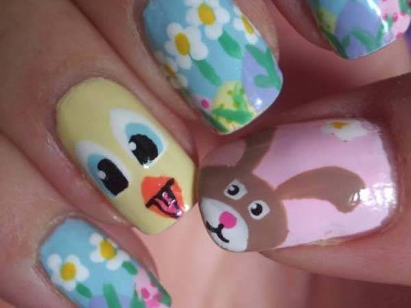 Easter 2014 Nail Art Designs Cute Hairstyles Ideas_18