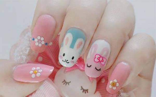 Easter 2014 Nail Art Designs Cute Hairstyles Ideas_23
