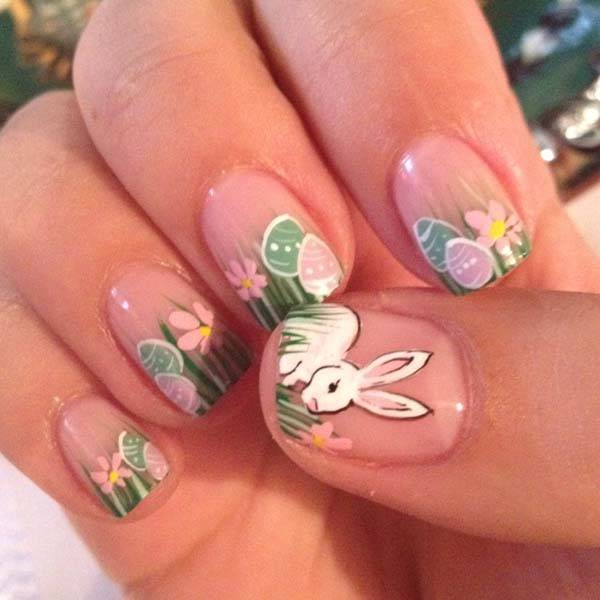 Easter 2014 Nail Art Designs Cute Hairstyles Ideas_28
