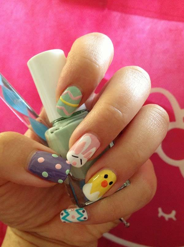 Easter 2014 Nail Art Designs Cute Hairstyles Ideas_40