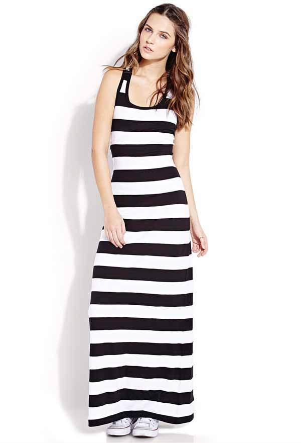 BLACK STRIPED DRESS  Forever 21