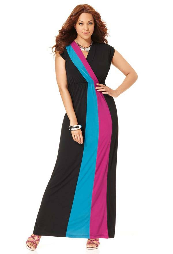Plus Size Maxi Dresses 2014_15