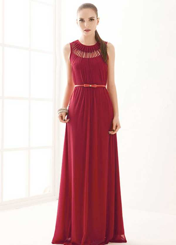 New Years Eve Dresses 2015, red maxi evening dress