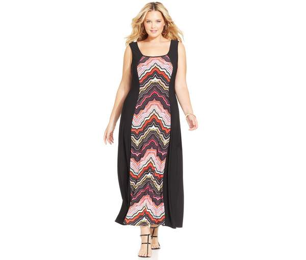 Love Squared Plus Size Sleeveless Printed Maxi Dress