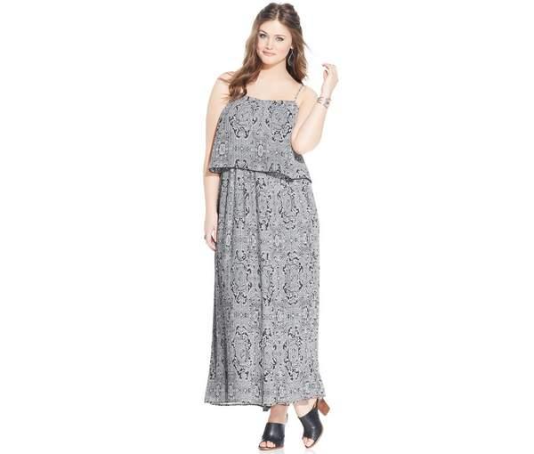 American Rag Plus Size Popover Maxi Dress