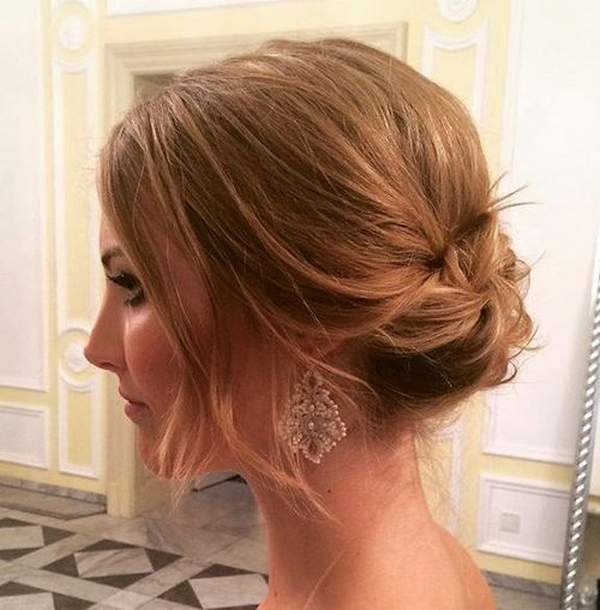 Messy Bun For Short Hair - Prom Hairstyles